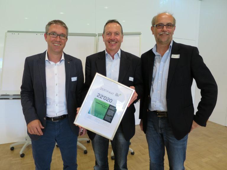 v.l.n.r.: Robert Schmidlin, Präsident VGQ; Urs Fuhrer, Fermacell; Uwe Germerott, Geschäftsführer VGQ und CO2-Bank Schweiz